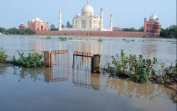Deluge in Himalayas was so powerful that down in Agra, Yamuna just touched TajMahal.