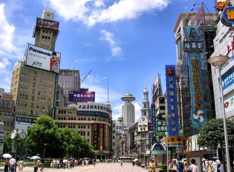 Main shopping street in Shanghai
