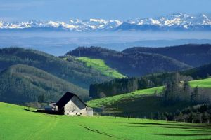 View of the Alps Basel-Land, Switzerland. Photo: Baselland Tourism