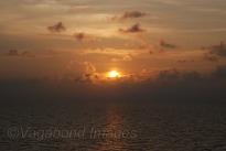 Sun sets in the Maldivian sea saying goodbye to a fantastic trip