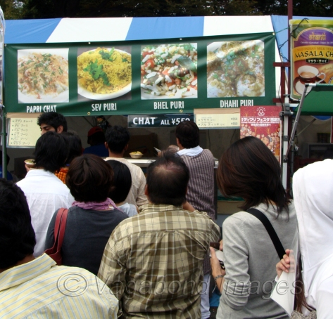 Queuing up for Indian Chaat