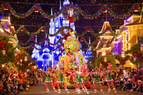 Christmas Parade at Walt Disney World Resort in Orlando