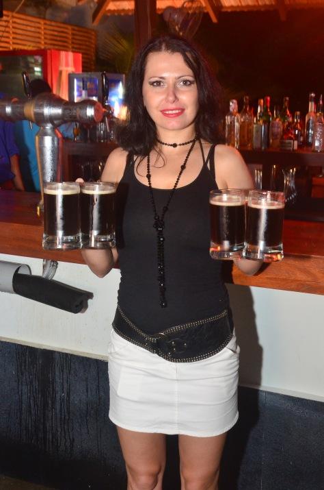 Freshly Brewed beer being enjoyed by people at SinQ