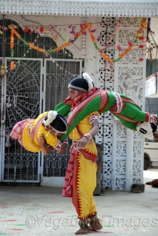 Gotipua dance is in the Odissi style, but their technique, costumes and presentation differ from those of the mahari; the singing is done by the dancers. Present-day Odissi dance has been influenced by Gotipua dance