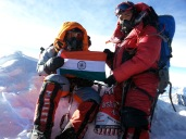 And here is the tricolour on the top of world once again