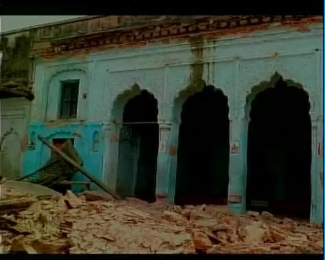 Damaged Kamakhya temple in Ayodhya