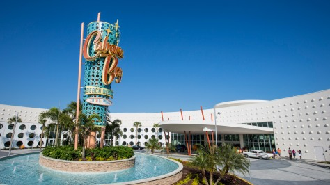 Universal Orlando's fourth on-site hotel, Universal's Cabana Bay Beach Resort is now open! The retro-inspired hotel features incredible amenities for endless family fun including a 10,000 sq. ft. zero-entry pool with iconic dive tower waterslide, 10-lane bowling alley, the Jack LaLanne Physical Fitness Studio, family suites that sleep up to six and much more. This summer, guests will be able to enjoy even more family fun, including a second 8,000-square-foot zero entry pool, Universal Orlando's first lazy river at an on-site hotel, The Hideaway Bar & Grill, and additional moderately-priced family suites and value-priced standard guest rooms. © Universal Orlando Resort. All Rights Reserved.