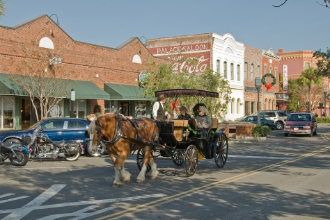 Historic Fernandina Beach-Centre Street, Books Plus Bookstore and Palace Saloon