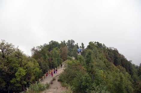 Walking trail to the temple
