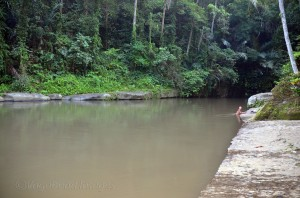 ...bathing in the river is a ritual here