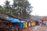 Shacks around Gokarna beach are closed due to heavy rains