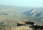 View of the Sariska Tiger Reserve from the fort