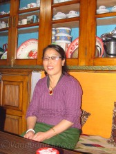 Lovely lady running the restaurant at Lachung in Sikkim, that will also serve you tongba